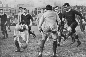 1908, mecz Walia v Francja, zawodnicy bez numerów